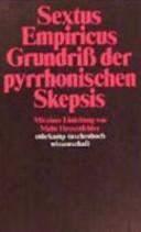 Grundriss der pyrrhonischen Skepsis PDF