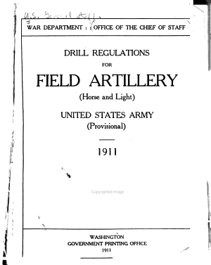 Drill Regulations for Field Artilery