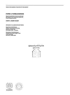 Form   Formlessness PDF