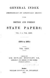 British and Foreign State Papers: Volume 64