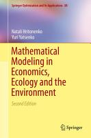 Mathematical Modeling in Economics  Ecology and the Environment PDF