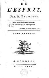 Oeuvres complètes de M. Helvétius: Volume 1