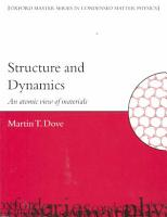 Structure and Dynamics PDF