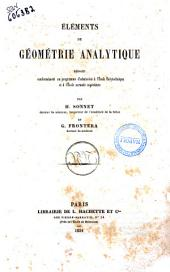 Elements de geometrie analytique rediges par H. Sonnet et G. Frontera