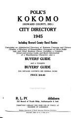Kokomo City Directory, Kokomo, Ind