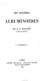 Des matières albuminoïdes