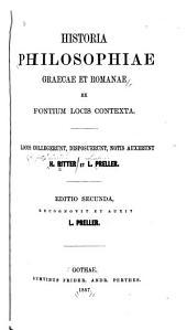 Historia philosophiae graecae et romanae ex fontium locis contexta