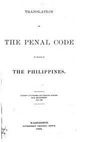 Translation of the Penal Code in Force in the Philippines