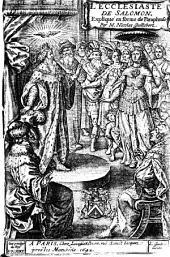L'Ecclesiaste de Salomon, expliqué en forme de paraphrase
