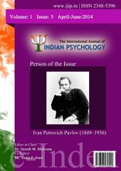 The International Journal of Indian Psychology, Volume 1, Issue 3