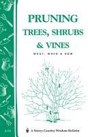 Pruning Trees  Shrubs   Vines PDF