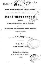 Mozin's kleines, deutsch-französisch und französisch-deutsches, aus dem vollständigen Taschen-Wörterbuch Mozin's von ihm bearbeitetes Hand-Wörterbuch...