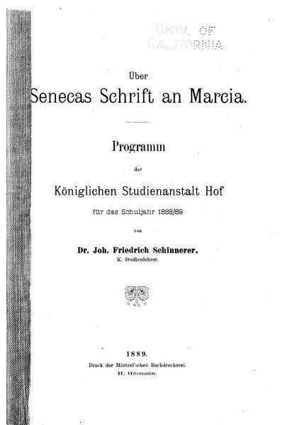 ber Senecas Schrift an Marcia