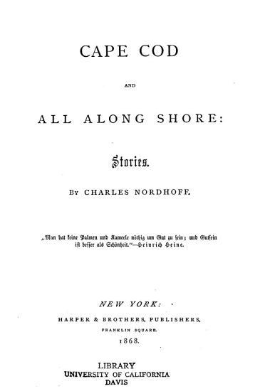 Cape Cod and All Along Shore PDF