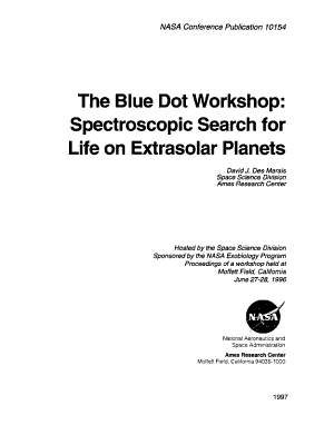 The Blue Dot Workshop  Spectroscopic Search for Life on Extrasolar Planets PDF