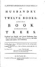 L. Junius Moderatus Columella Of Husbandry