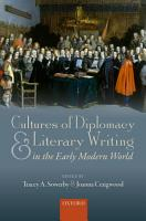 Cultures of Diplomacy and Literary Writing in the Early Modern World PDF
