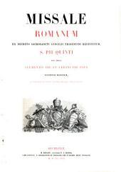 Missale romanum ex decreto sacrosancti Concilii tridentini restitutum, s