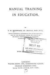 Manual Training in Education
