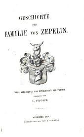 Geschichte der Familie von Zepelin: Band 1