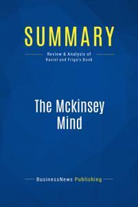 Summary  The Mckinsey Mind PDF