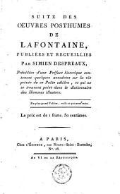 Suite des oeuvres posthumes de Lafontaine
