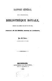 Rapport général sur la situation de la Bibliothèque royale, 1856-1858
