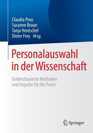 Personalauswahl in der Wissenschaft PDF