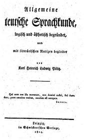 Allgemeine deutsche Sprachkunde