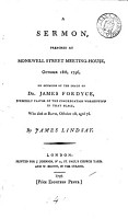 A Sermon  Preached at Monkwell Street Meeting house  October 16th  1796  PDF