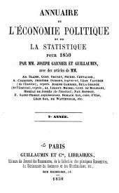 Annuaire de l'économie politique et de la statistique: Volume7