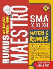 Rumus Maestro X, XI, XII SMA: Matematika, Fisika, Kimia