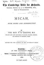 Micah: Volume 28