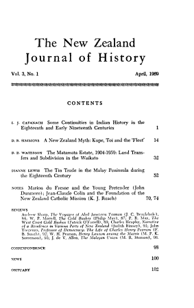 The New Zealand Journal of History PDF
