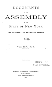 Documents of the Assembly of the State of New York: Volume 26