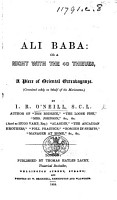 Ali Baba  or a Night with the 40 Thieves  A piece of oriental extravaganze  in two acts and in verse   PDF