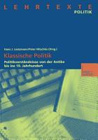 Klassische Politik PDF