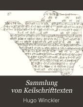 Sammlung von Keilschrifttexten: Bände 1-3