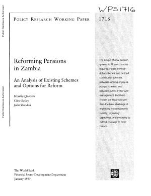 Reforming Pensions in Zambia PDF