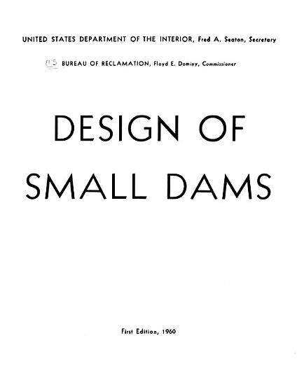 Design of Small Dams PDF
