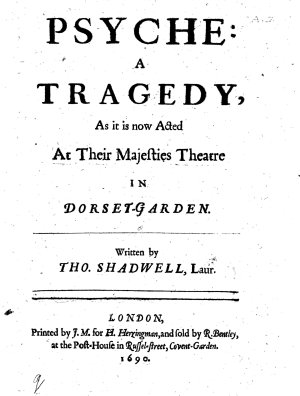 Psyche  a tragedy  etc  in five acts and in verse  partly borrowed from the French of Moli  re PDF