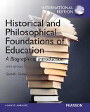 Historical and Philosophical Foundations of Education PDF