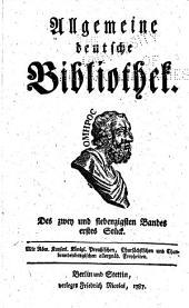 Allgemeine deutsche Bibliothek: Band 72,Teil 1