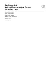 San Diego, CA National Compensation Survey December 2003