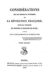 Considérations sur les principaux événemens de la Révolution Française: Volume2