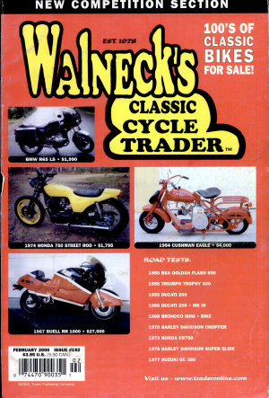 WALNECK S CLASSIC CYCLE TRADER  FEBRUARY 2000