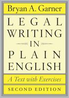 Legal Writing in Plain English  Second Edition PDF
