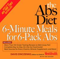 The Abs Diet 6 Minute Meals for 6 Pack Abs PDF