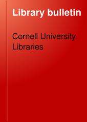 Library Bulletin: Volume 1