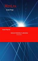Exam Prep for  General Chemistry 2 Laboratory PDF